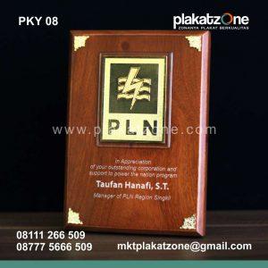 plakat kayu PLN eksklusif