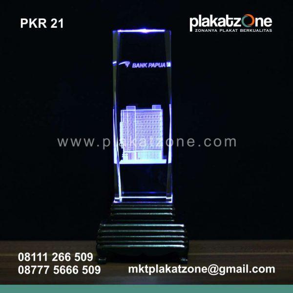 souvenir plakat kristal bank papua